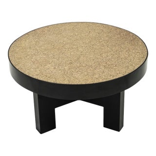 Ado Chale - Small Coffee Table / Side Table in Peppercorn and Resin, Circa 1980 For Sale