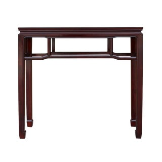 Chinese Huali Rosewood Reddish Brown Straight Apron Side Altar Table For Sale