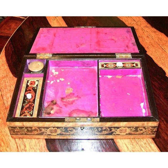 19c Tunbridgeware Table Top Stationary Box - Micro Mosaic For Sale In Dallas - Image 6 of 8
