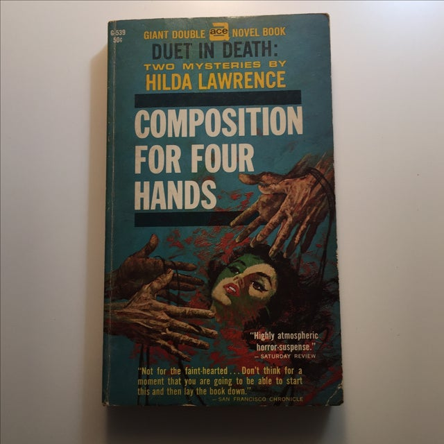 A 1947 mystery book with minor wear on the cover. Interior clean and tight. Composition for Four Hands and The House both...