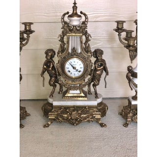 Imperial Brevattato Mantel Clock Candelabra Garnit - Set of 3 Preview