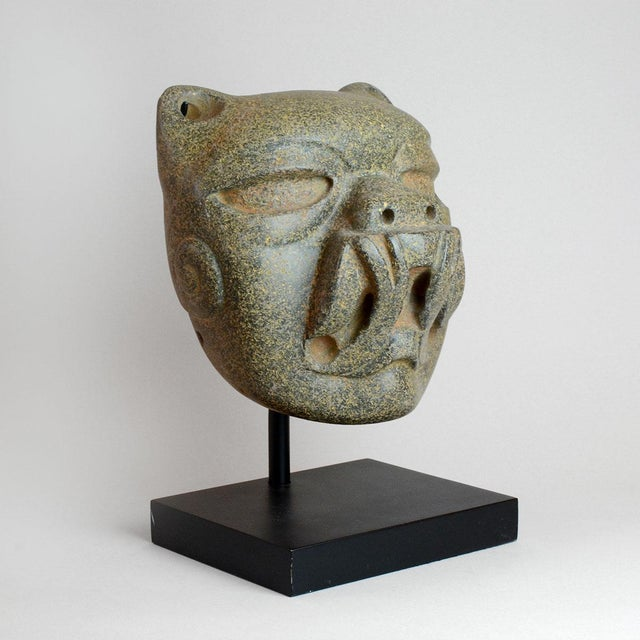 Olmec Stone Jaguar Head For Sale - Image 4 of 6
