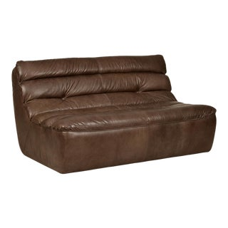 Timothy Oulton Whiskey Leather Love Seat For Sale