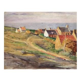 """Henri Lamour """"Ploumanc'h"""" Painting"""
