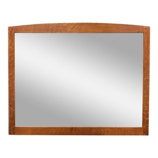 Classic Stickley Mission Oak Mirror For Sale