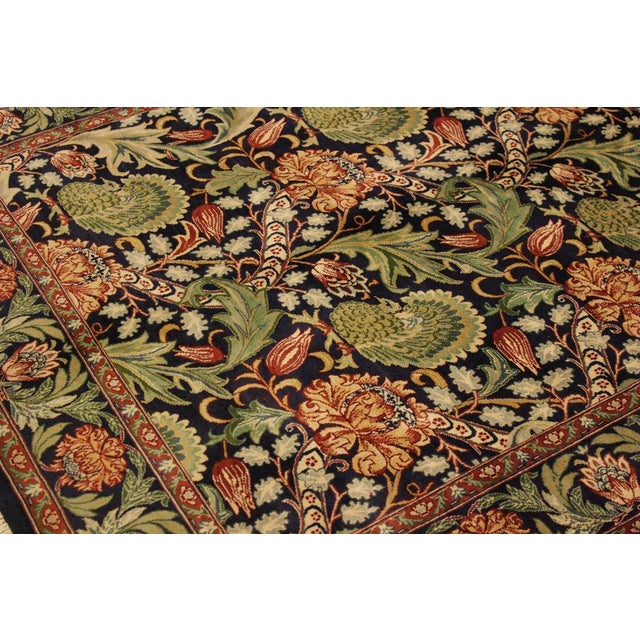2010s Pak-Persian Caridad Blue/Red Wool Rug - 4'7 X 7'1 For Sale - Image 5 of 8