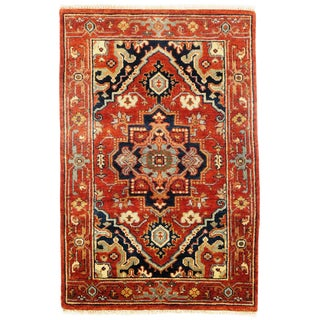 """Traditional Pasargad N Y Serapi Design Hand-Knotted Rug - 2'8"""" X 4' For Sale"""
