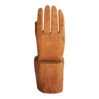 Antique Folk Art Hand-Carved Wood Hand For Sale