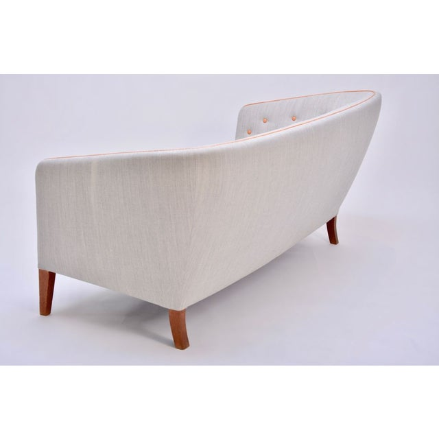 Wood Gray 3-Seater Sofa by Ludvig Pontoppidan, 1940s For Sale - Image 7 of 11