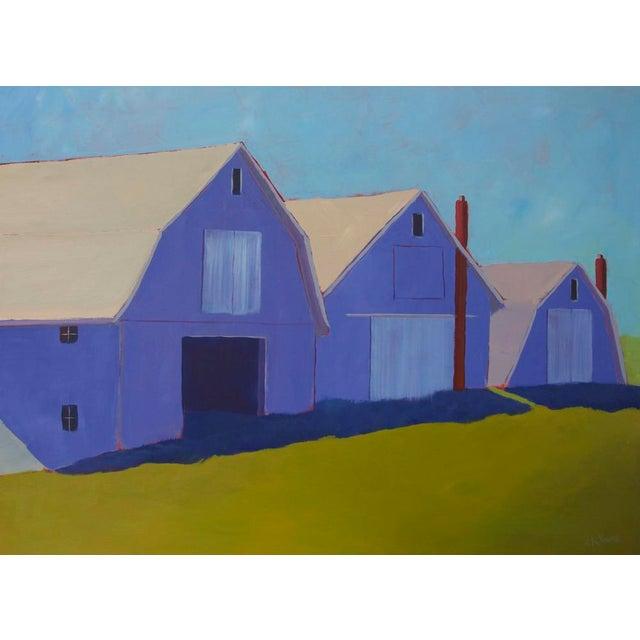 "2010s Contemporary Landscape Painting ""1 Potato, 2 Potato 3 Potato Barn"" by Carol C Young For Sale - Image 5 of 5"