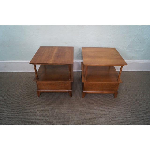 Heritage Henredon Mid Century End Tables - Image 4 of 10