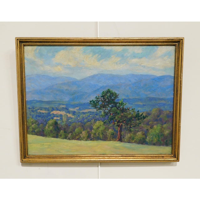 High Quality Painting of Green Mountains North of Brandon, Vermont. Custom Gilt Frame Newman Galleries, Philadelphia Store...