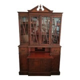 Image of Traditional Secretary Desk With Hutch For Sale