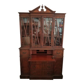 Traditional Secretary Desk With Hutch For Sale