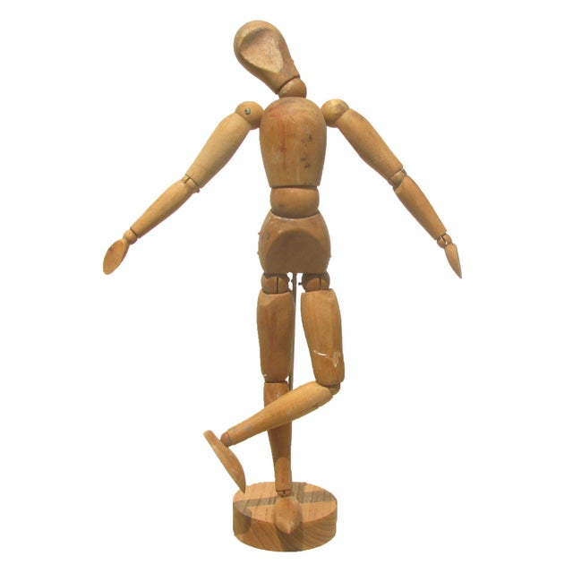 A fully articulating wooden model from the studio of nationally listed artist, Helen King Boyer. Her work is held in...