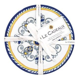 Sorrento Melamine Appetizer Plates, Set of 4 For Sale