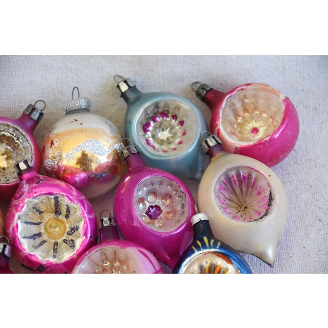 Cardboard Midcentury Fancy Christmas Tree Ornaments W/Box - Set of 12 For Sale - Image 7 of 9