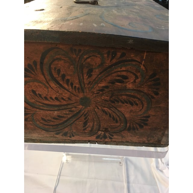 Wood Late 18th Century Antique Norwegian Folk Art Box For Sale - Image 7 of 12