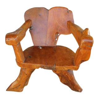 Teak Tree Root Studio Club Chair, #1 of 2 For Sale