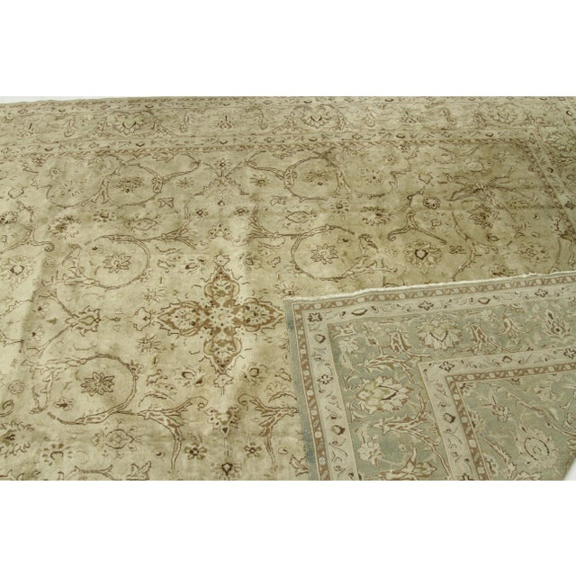 1960s Vintage Persian Kerman Floral Design Rug - 9′10″ × 12′6″ For Sale - Image 11 of 12