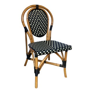 French Style Parisian Cafe Bistro Rattan Dining Chair For Sale