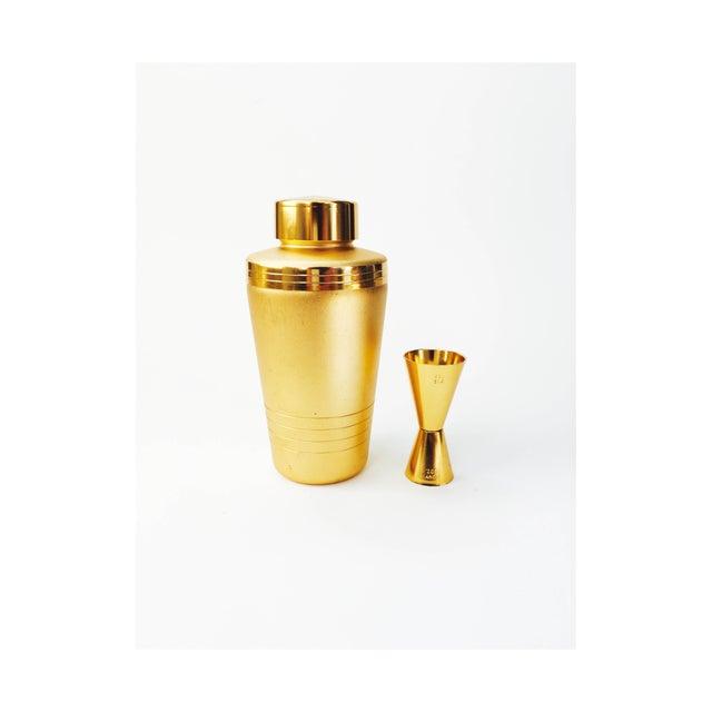 Vintage Mirro Gold Aluminum Cocktail Shaker Set - Image 2 of 6