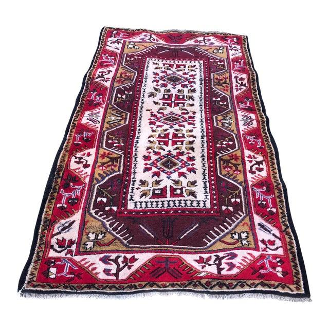 Anatolian Geometric Milas Red Rug For Sale
