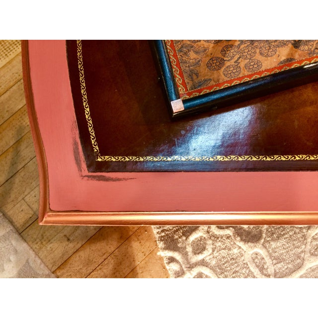 Leather Top Coffee Table - Image 5 of 8