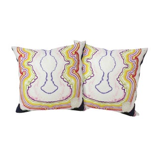 Happy Hour Linen Pillows - A Pair For Sale
