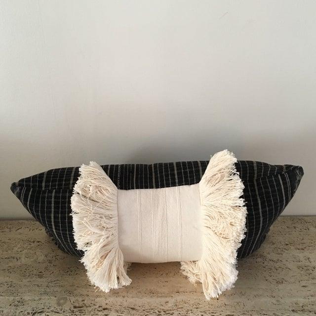 Vintage Sumba Ikat Fringe Pillow - Image 4 of 9