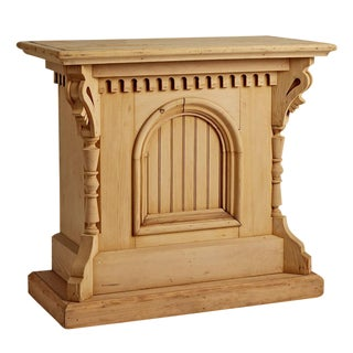 Ornately Carved Lectern W/ Raw Dry Finish Circa 1890s