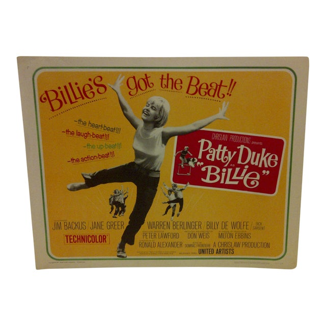 "Vintage Movie Poster ""Billies Got the Beat"" Starring Patty Duke For Sale"