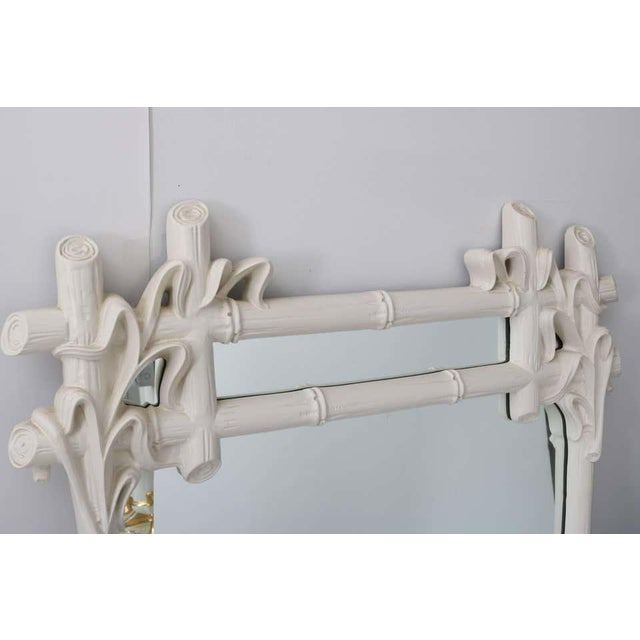 Contemporary Gampel - Stoll Faux Bamboo Mirror For Sale - Image 3 of 13