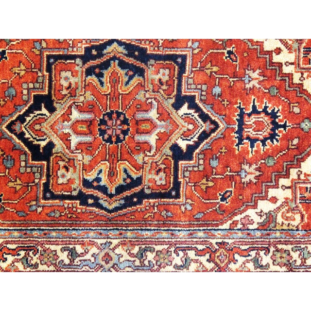"""Islamic Pasargad NY Fine Serapi Design Hand-Knotted Rug - 2'10"""" X 5'5"""" For Sale - Image 3 of 4"""