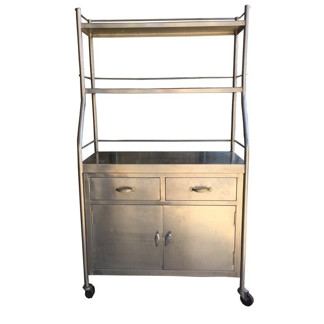 Vintage Stainless Steel Shelving Unit - Image 2 of 4