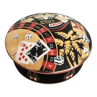 Vintage Custom French Tiffany Porcelain Jar For Sale