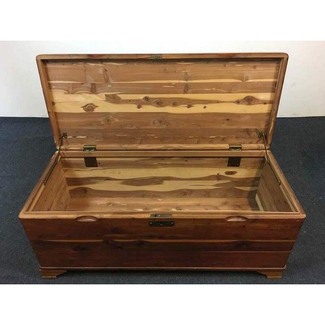 Vintage Cedar Lined Storage Chest - Image 4 of 6