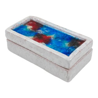 Bitossi for Raymor Italian Ceramic Glass Mosaic Box For Sale