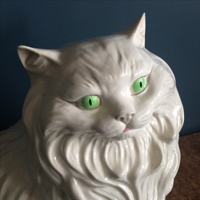 White Ceramic Cat - Image 5 of 8