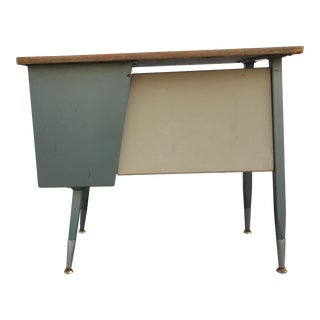 Vintage 1950's Student School Desk