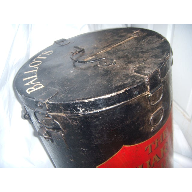 English Painted Metal Ballot Box - Image 8 of 10