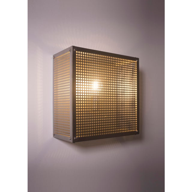 Metal Modern Contemporary 001 Flush Mount in Nickel by Orphan Work For Sale - Image 7 of 10