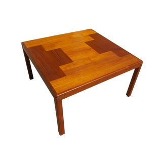 1960s Danish Mid-Century Modern Henning Kjaernulf Vejle Stole Møbelfabrik Side Table For Sale