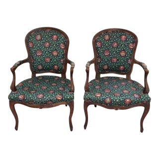 Antique French Armchairs - A Pair For Sale