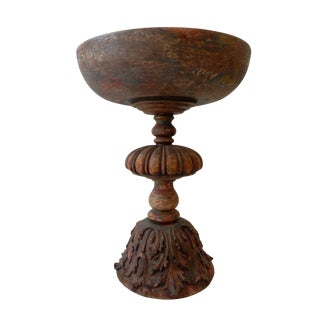 Colonial Wooden Footed Bowl