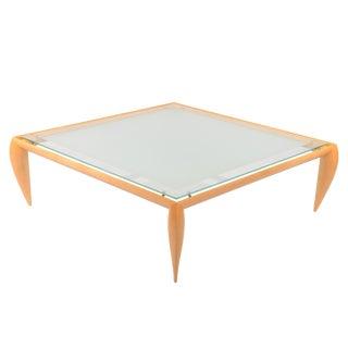 Brueton Square Glass Top Coffee Table For Sale