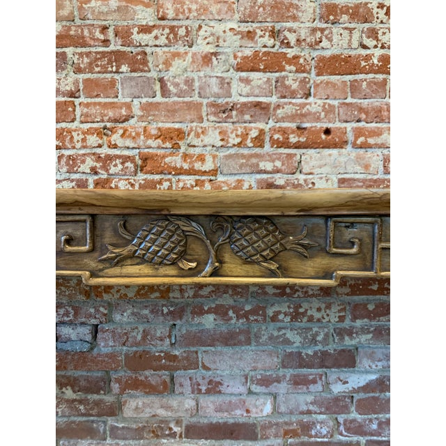 Asian Antique Antique Hand Carved Wood Altar Table/Console For Sale - Image 3 of 12