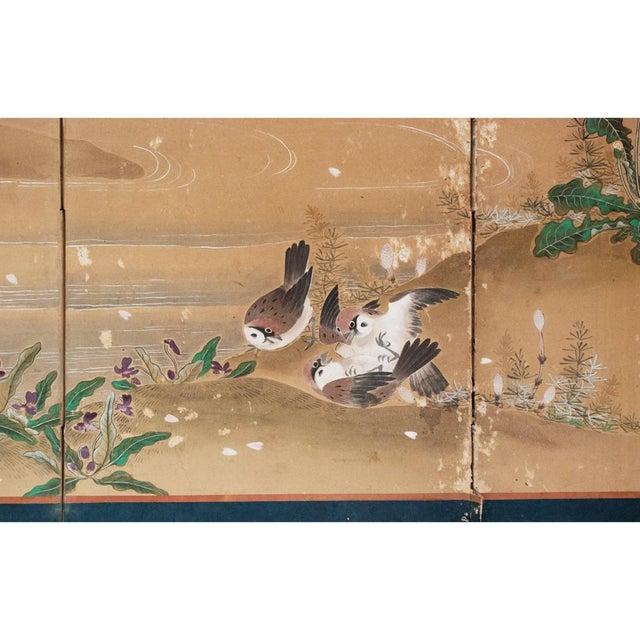17th-18th C. Japanese Twelve-Panel Byobu Screen For Sale - Image 10 of 13
