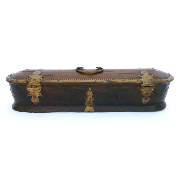 Vintage Wood Kerala Box II For Sale - Image 7 of 9