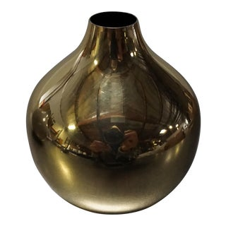 Small Gold Painted Metal Bud Vase For Sale